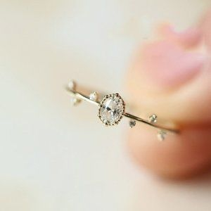 NEW 18K Yellow Gold Diamond Branch Leaf Ring